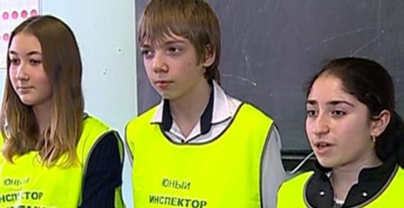 Отряд юных инспекторов дорожного движения провел занятие в Рыбинской ОТШ ДОСААФ России