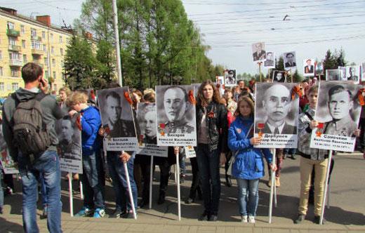 Рыбинская ОТШ ДОСААФ России приняла участие в праздновании Дня Победы